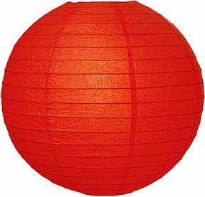 Papperslykta Röd. 30 cm