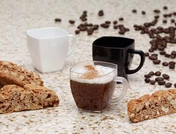 Square kaffe/te-mugg .Klar  8 st.
