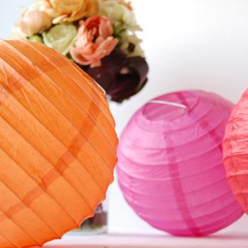 Paper Lantern. Pink. 40 cm
