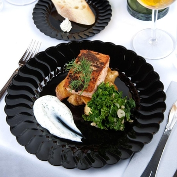 Rund middags/Buffétallrik. Svart. 18 st.