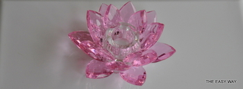 Lotus Candle Holder. Pink