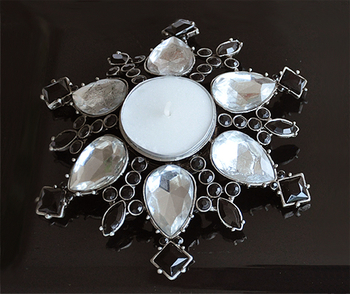 Clear Drops. Candle Holder