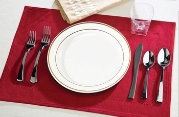 Round dinner plate with silver edge. 10 pieces