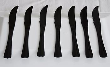 Svarta knivar. 20 st.