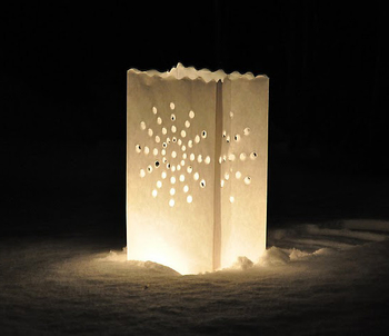 Candle Bag  Stardust - Vit