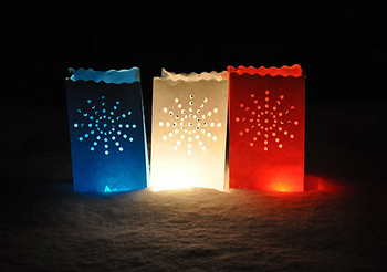 Candle Bag Stardust - White