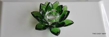 Lotus Ljusstake. Grön