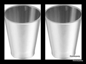 Silver glas . 6 pieces.