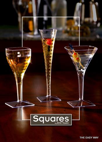 Square Champagne flute. 6 pieces.