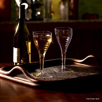 Fyrkantig vinglas. 6 st.
