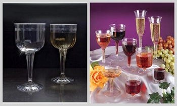 Fluted Wine glass. 8 pieces
