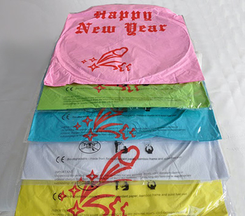 Happy New Year - Yellow. 6 pieces